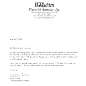 McFadden Financial Activites, Inc. testimonial - SmartDog