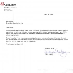 Safeguard testimonial - SmartDog Commercial Cleaning