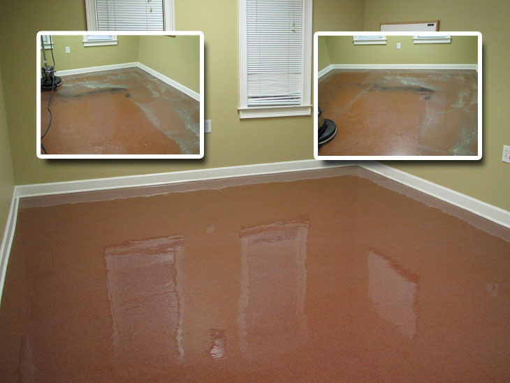 before & after floor waxing